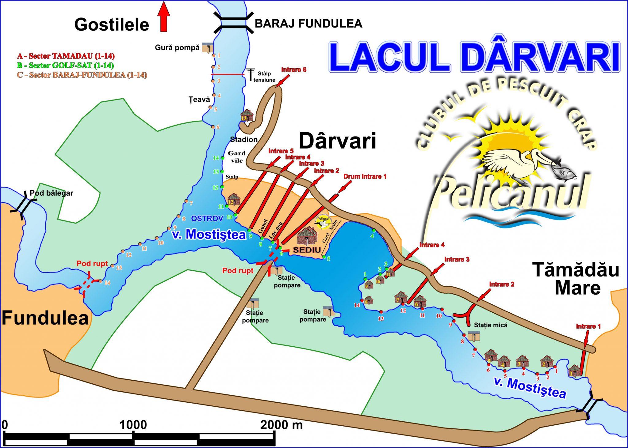 Harta lacului Darvari